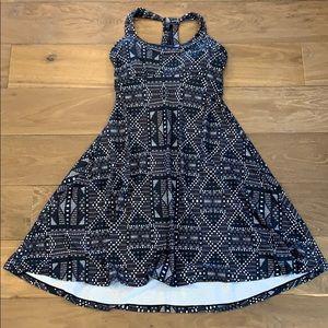 Prana Quinn Athletic Dress Gray Geometric S
